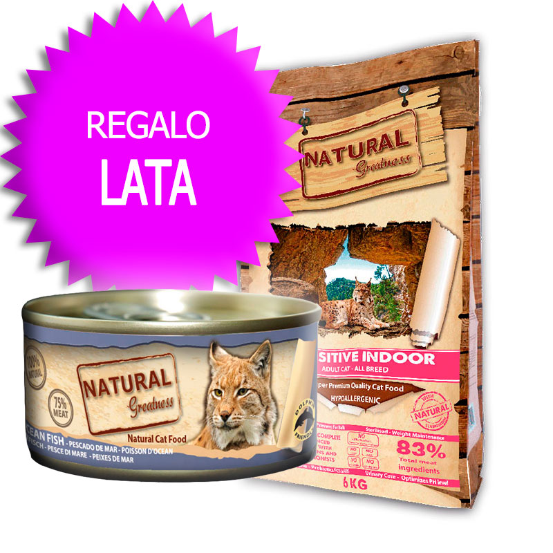 Natural Greatness Receta Sensitive Indoor para gatos adultos