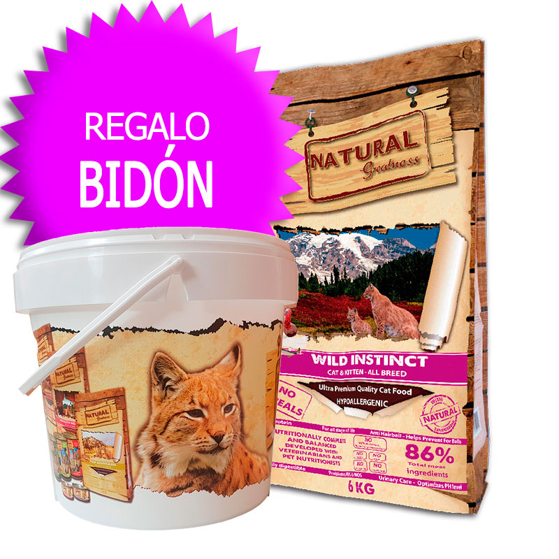 Natural Greatness Receta Wild Instinct para gatitos y gatos adultos