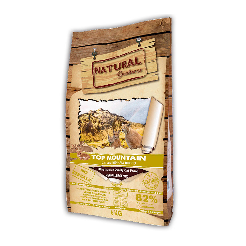Natural Greatness Receta Top Mountain para gatos y gatitos 6Kg