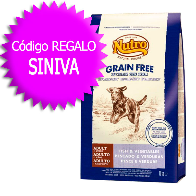 Nutro Choice Grain Free Adult Fish 10kg+Coupon