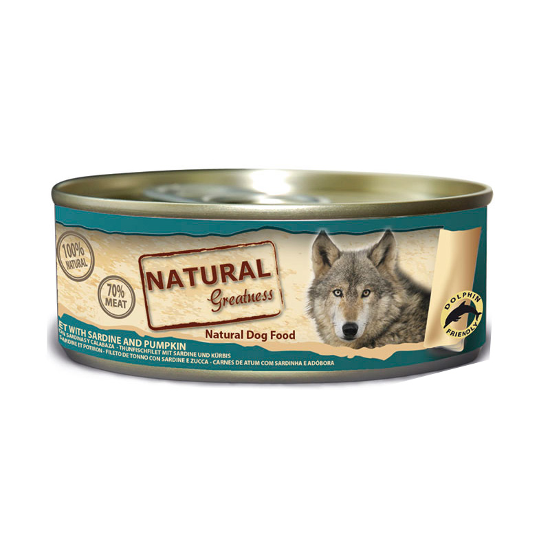 Natural Greatness Tuna with Sardine and Pumpkin. Wet Food Dog