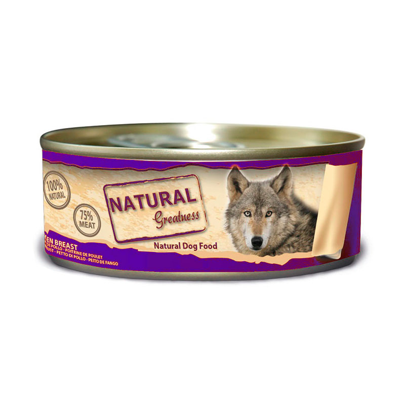 Natural Greatness WFD Classic Chicken Breast with Vegetables 156gr. Wet Food for Dogs