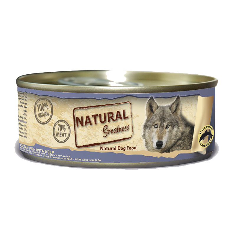 Natural Greatness Ocean Fish with Kelp. Wet Food Dog