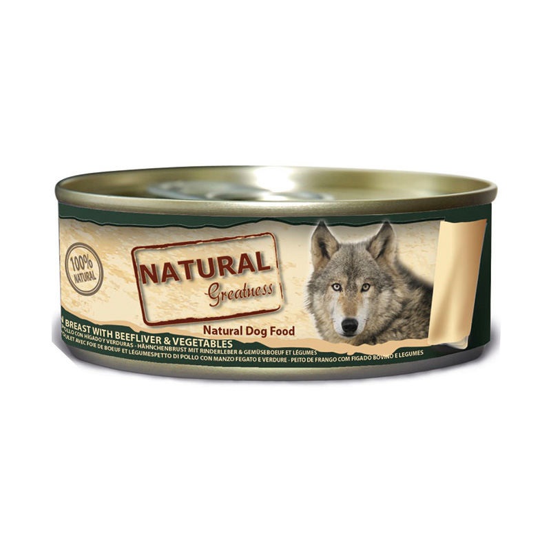 Natural Greatness WFD Classic Chicken Breast, Liver Beef and Vegetables 156gr. Wet Food for Dogs