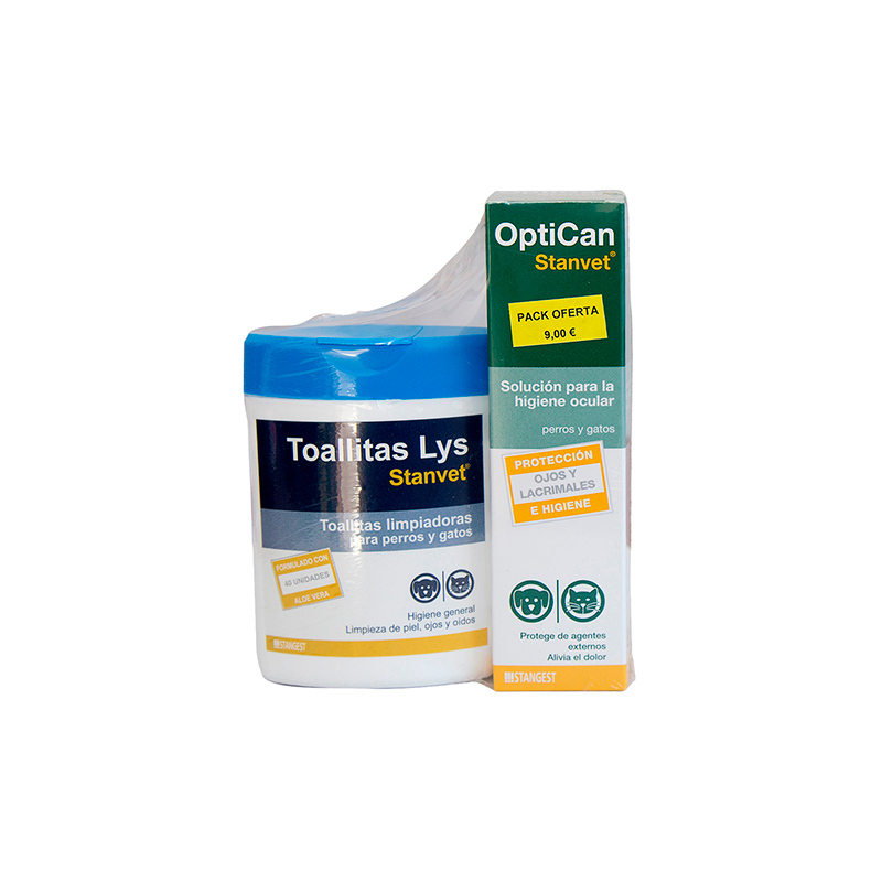 Stanvet Pack Optican + Wipes 40 units