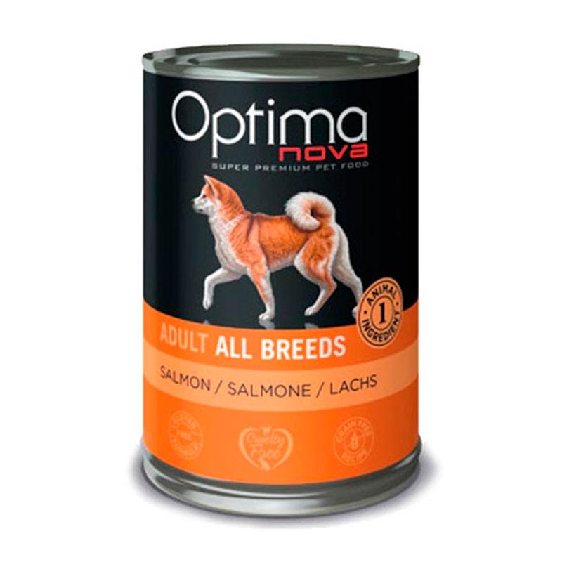 Optimanova Adult All Breeds Grain Free Duck. Comida Húmeda para perros.