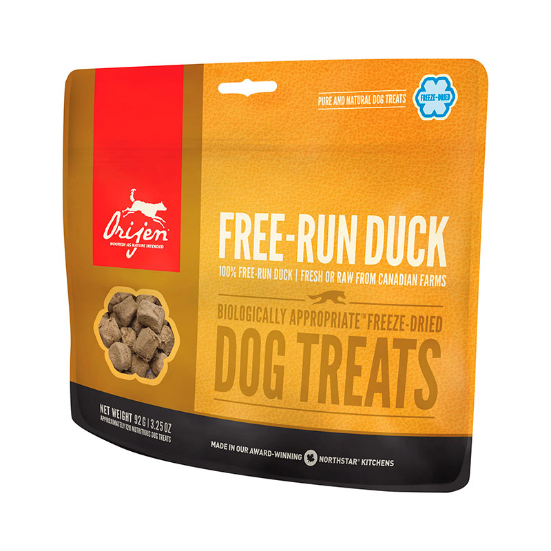 Orijen Free Run Duck Dog Treats premios para perros 42.5