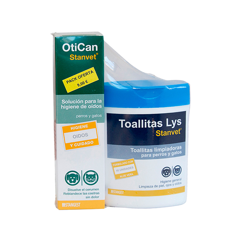 Stanvet Pack Otican + Wipes 40 units
