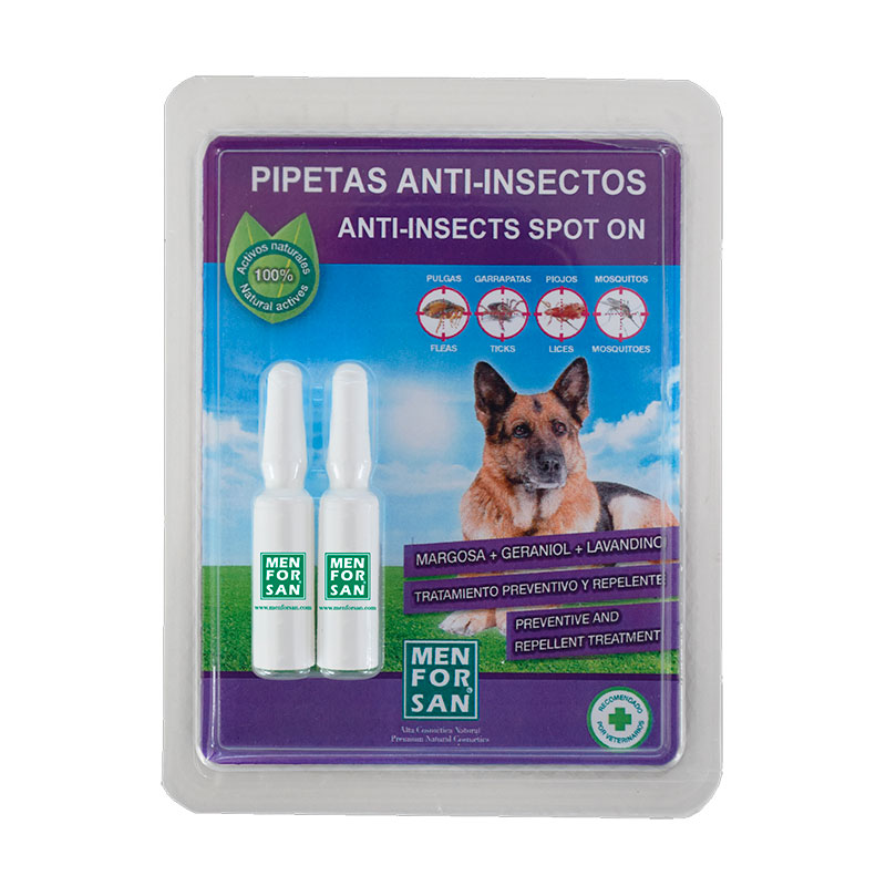 Menforsan Anti-insect pipettes dogs with margosa, geraniol and lavandino 2