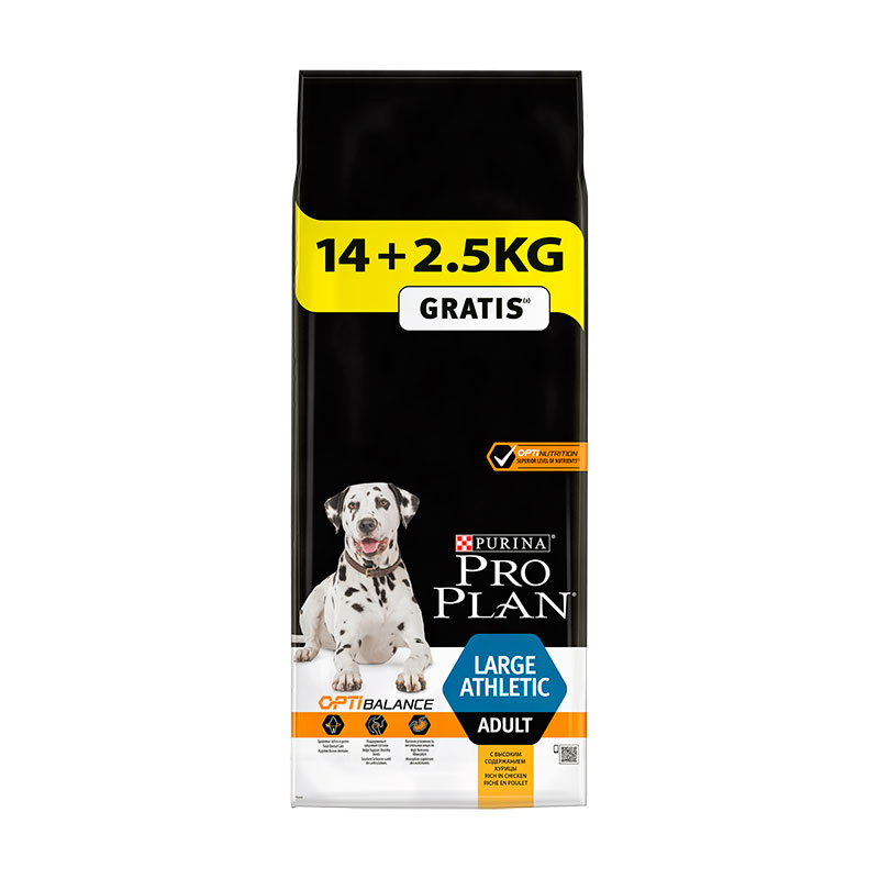 Purina Pro Plan Adulto Razas Grandes Athletic 14Kg+2.5Kg Gratis