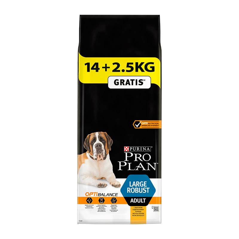 Purina Pro Plan Adult Large Breed Robust 14Kg+2.5Kg Free