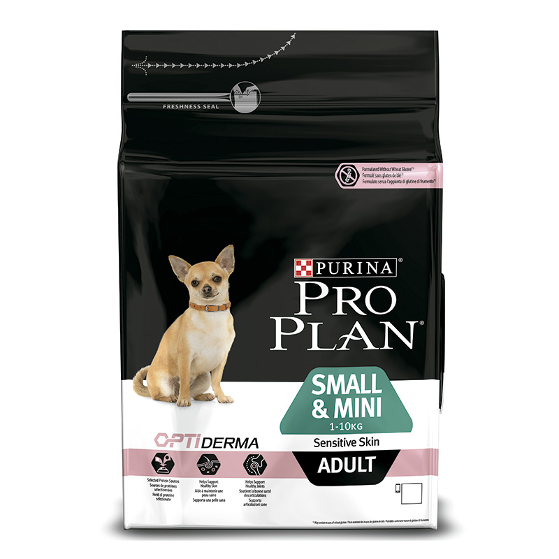 Purina Pro Plan Adulto Razas Pequeñas & Mini OptiDerma Sensitive Skin Salmón y Arroz