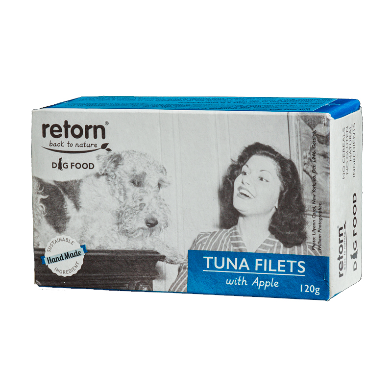 Retorn Dog Tuna with Apple Steaks Can