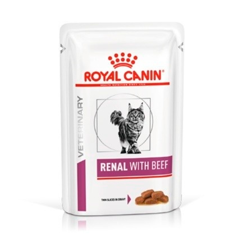 Royal Canin Cat Renal Wet Pouch with beef 85gr