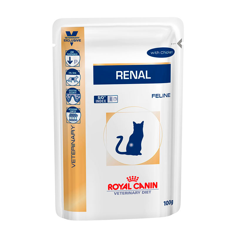Royal Canin feline Renal Wet Pouch with chicken 85gr