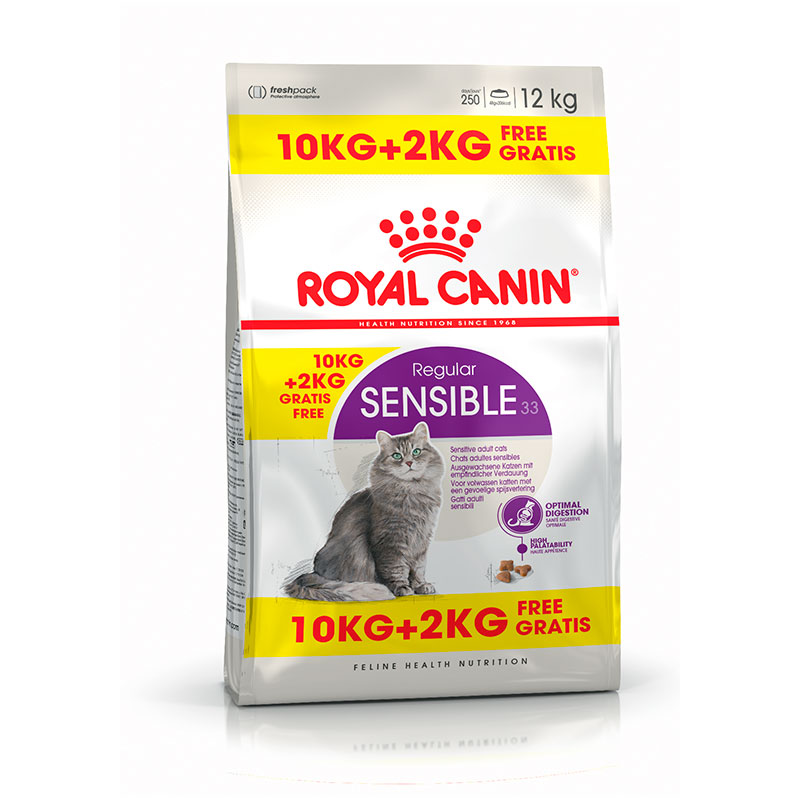 Royal Canin Cat Sensible 33 10Kg+2Kg Free