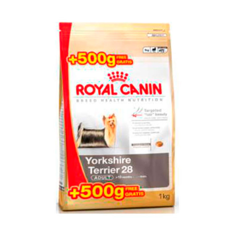 perro alimentaci n pienso royal canin razas royal canin yorkshire terrier adulto 500gr. Black Bedroom Furniture Sets. Home Design Ideas