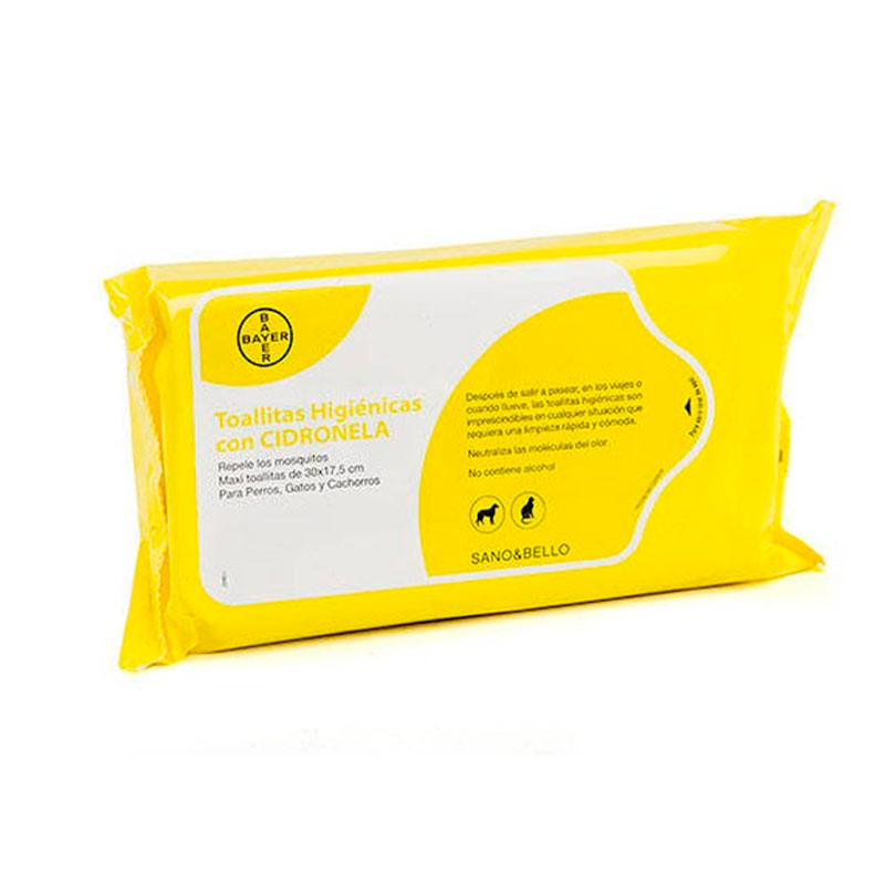 Hygienic Wipes Bayer. Healthy and Beautiful with Citronella