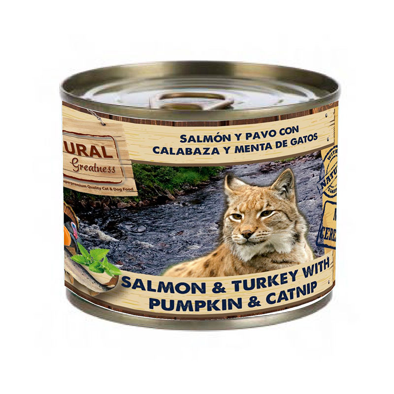 Natural Greatness Salmon & Turkey with Pumpkin & Mint. Wet food cats