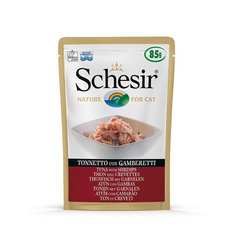Schesir Tuna with Prawns Pouch