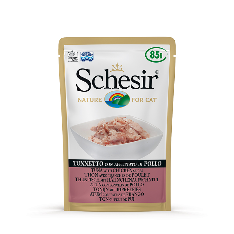 Schesir Tuna with Chicken Ham Pouch