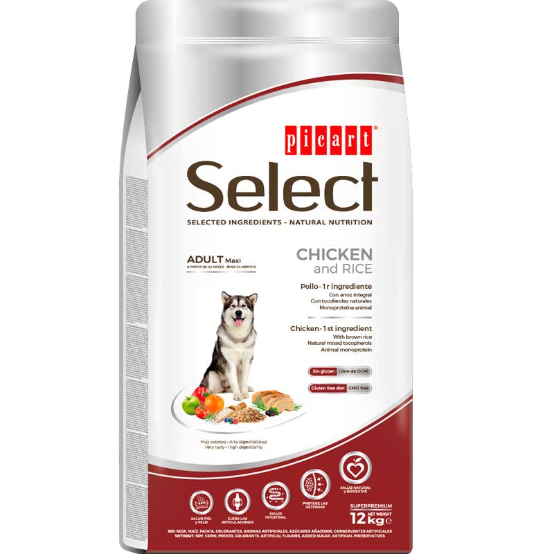 Picart Select Adult Maxi Breeds Chicken & Rice