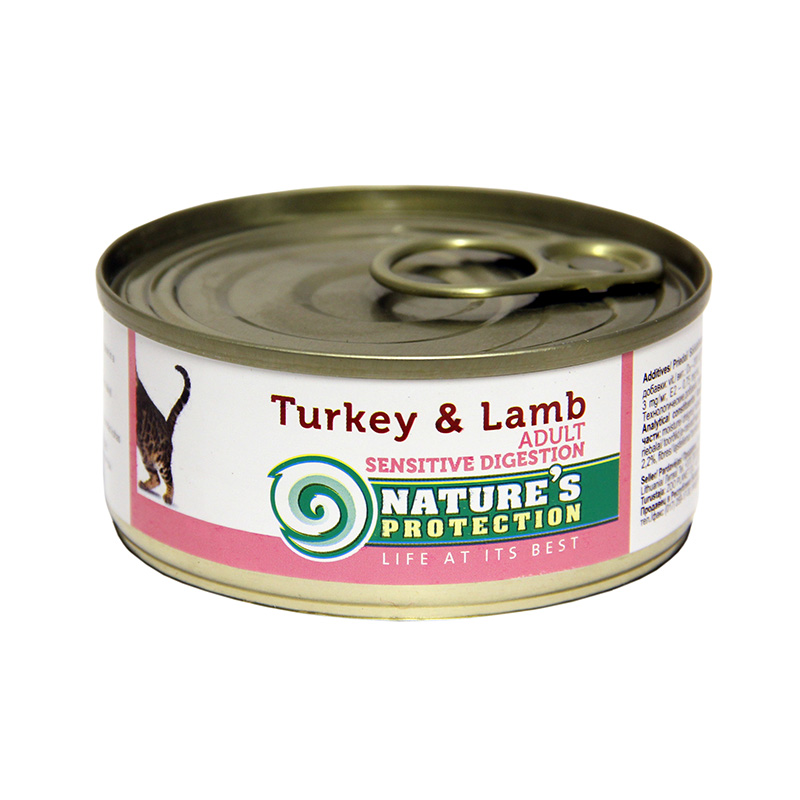 Nature's Protection Adult Cat Sensitive Digestion Turkey and Lamb 100gr