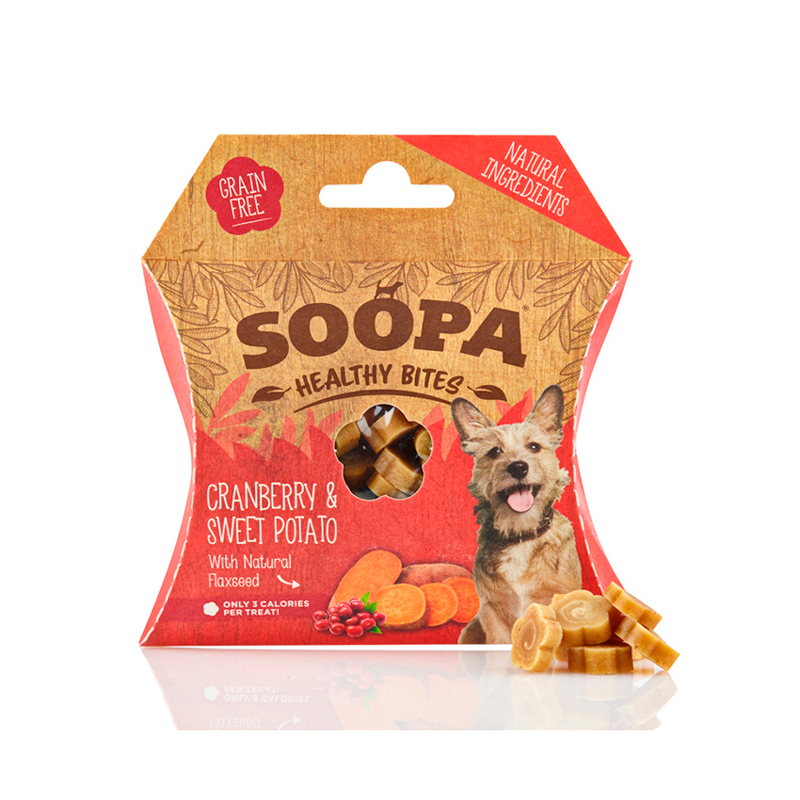 Soopa Snacks for  Dogs Cranberry & Sweet Potato