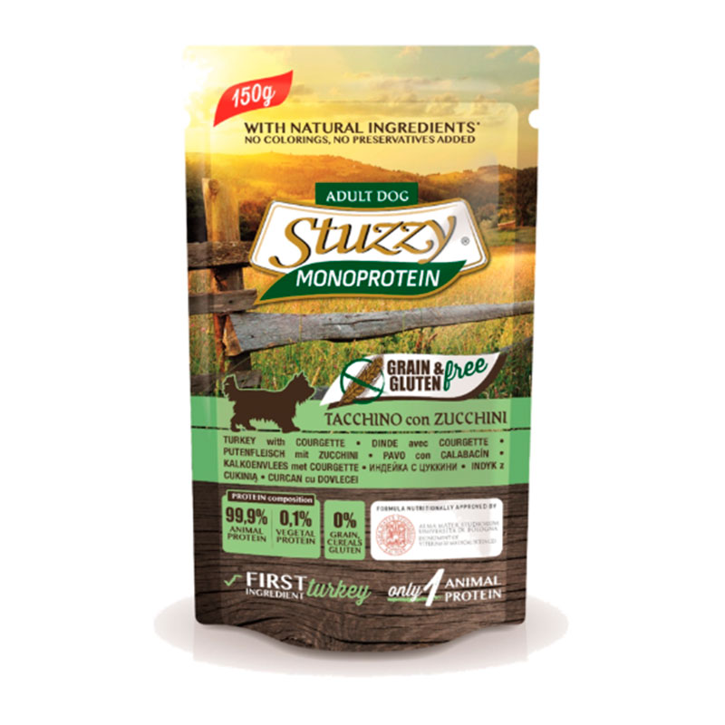 Stuzzy Dog Pouch Grain Free About Monoprotein Turkey with Zucchini