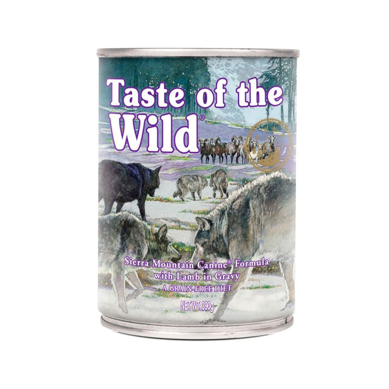 Taste of the Wild Sierra Mountain with Lamb. Wet food for Dogs