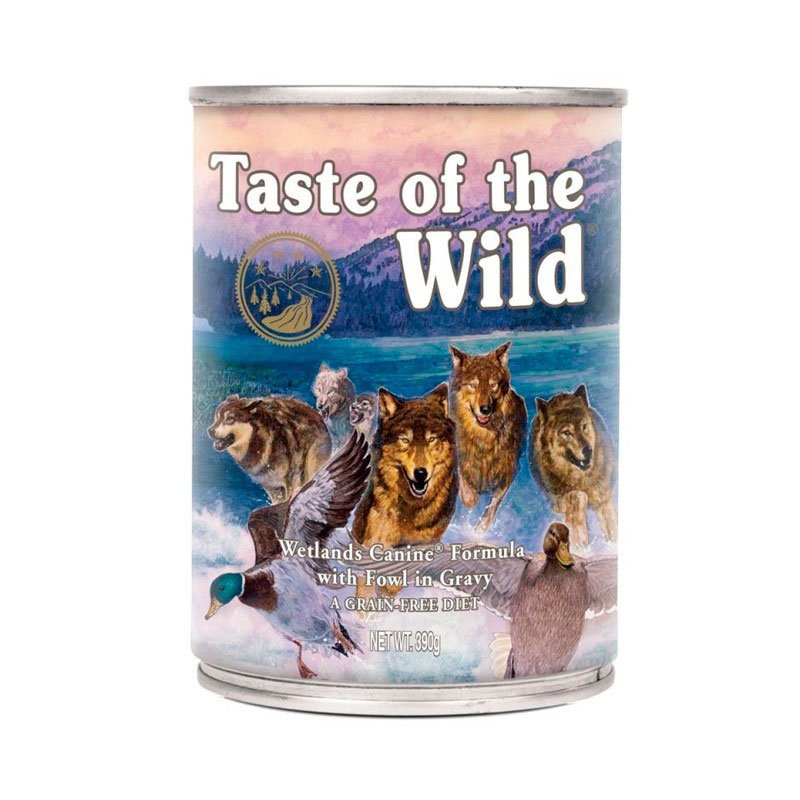 Taste of the Wild Wetland with Duck Turkey & Quail Wet food for Dogs