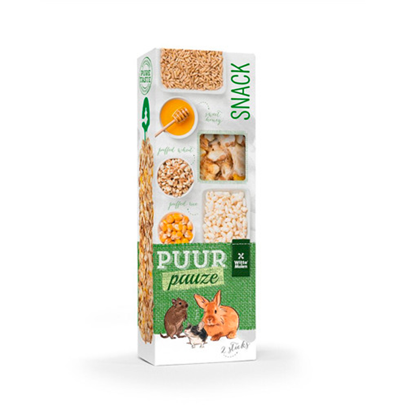 Witte Molen Puur Rodents Bars Puffed Rice and Honey