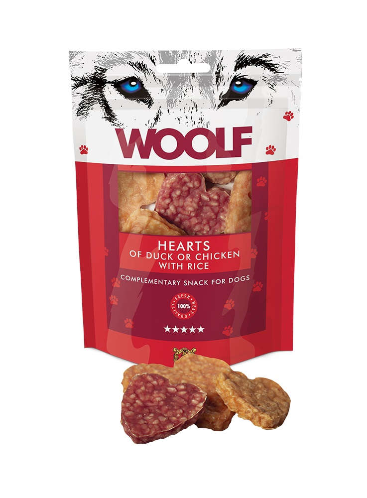 Woolf Hearts of Duck and Chicken 100gr