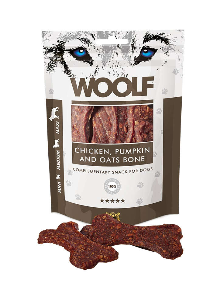 Woolf Chicken, Pumpkin and Oats Bone 100gr