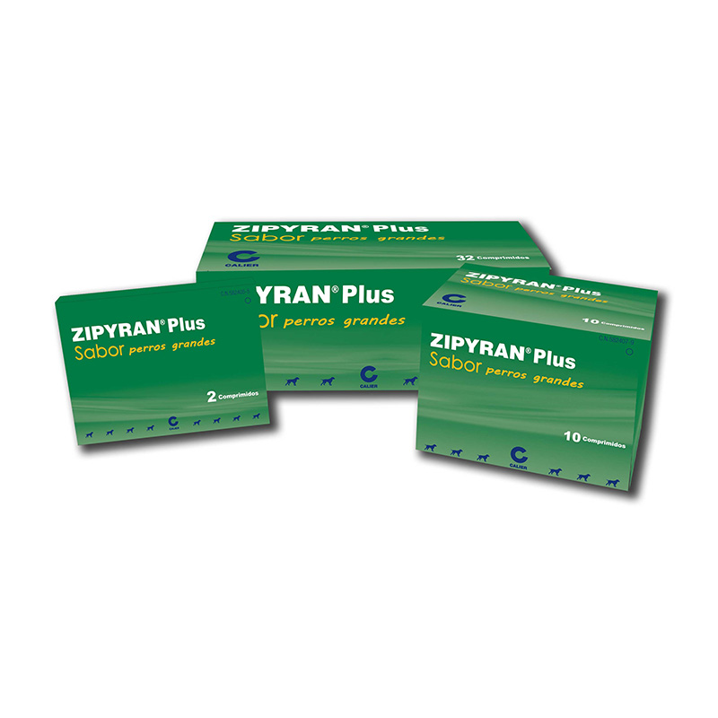 Zipyran Plus Flavor Internal Antiparasitic Large Dogs >35kg by Calier