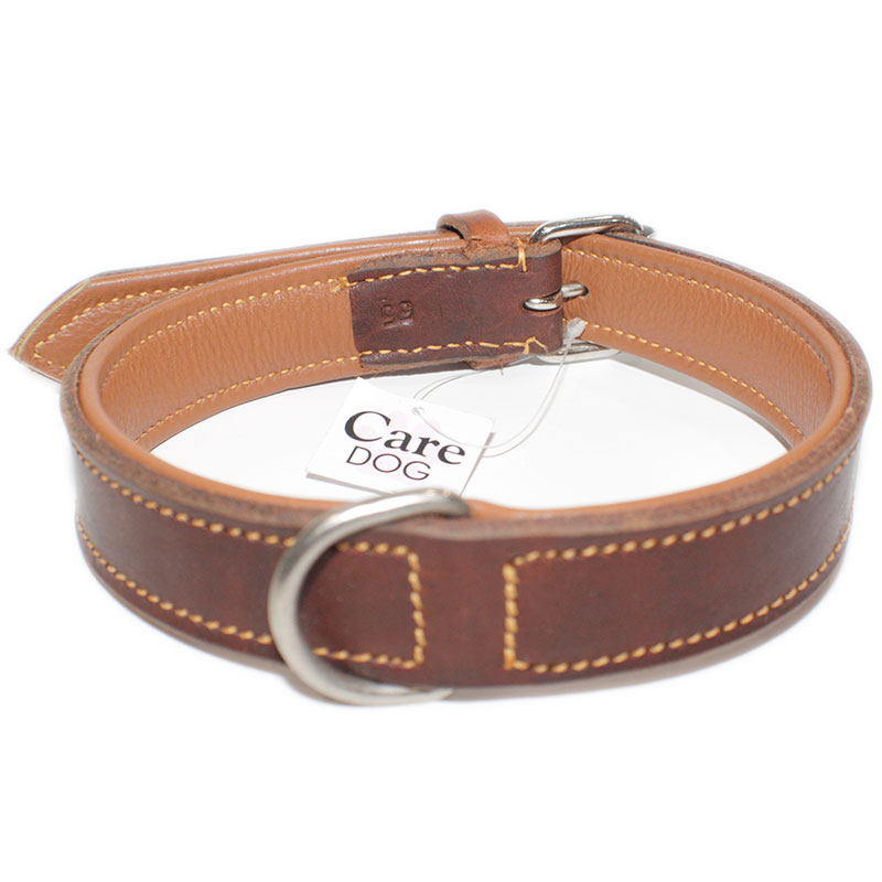 Collar Leather Viena Natural
