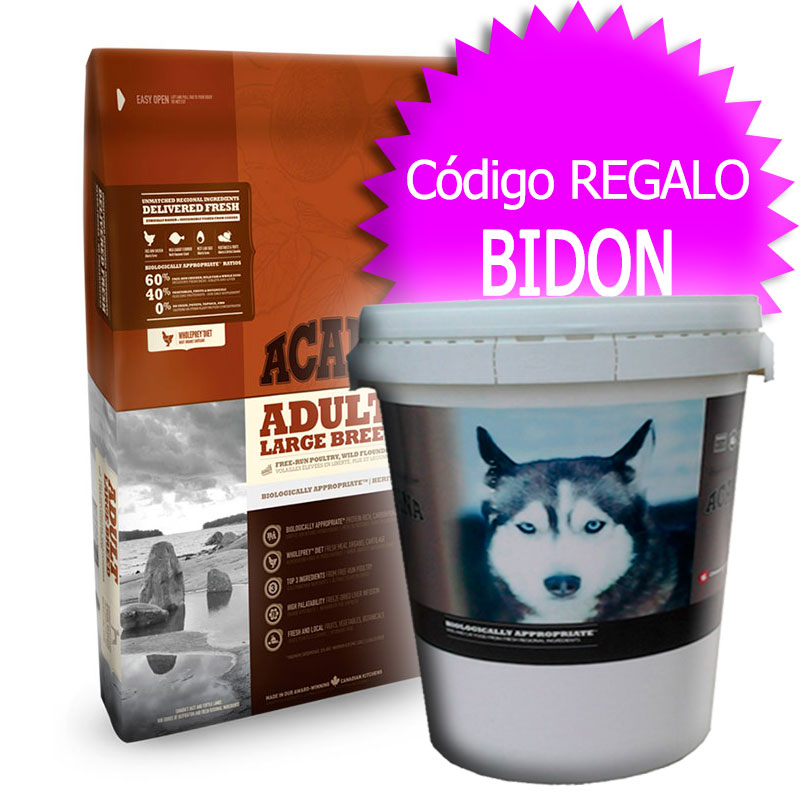 Pienso Acana Adult Large Breed Heritage+Bidón