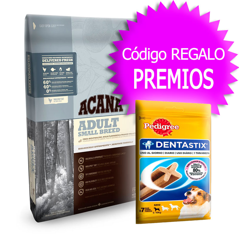 Pienso Acana Adult Small Breed Heritage 6Kg+Cupón