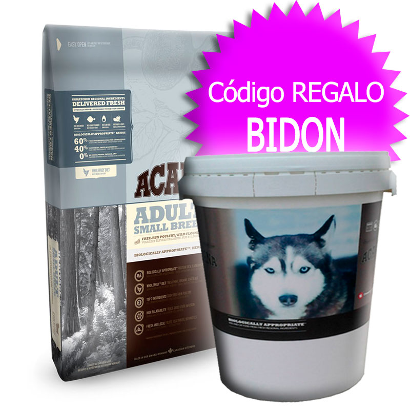 Pienso Acana Adult Small Breed Heritage 6Kg+Bidón