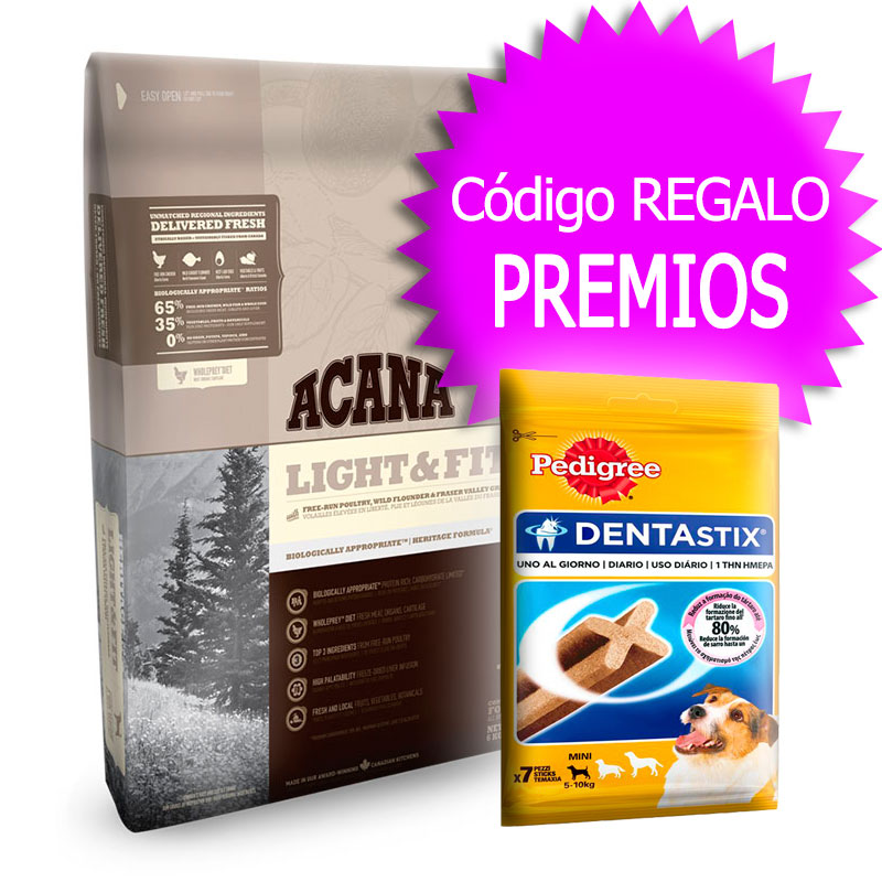 Pienso Acana Light & Fit Heritage 11.4Kg+Cupón