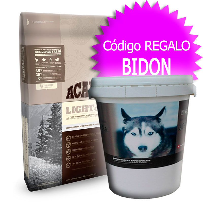 Pienso Acana Light & Fit Heritage 11.4Kg+Bidón