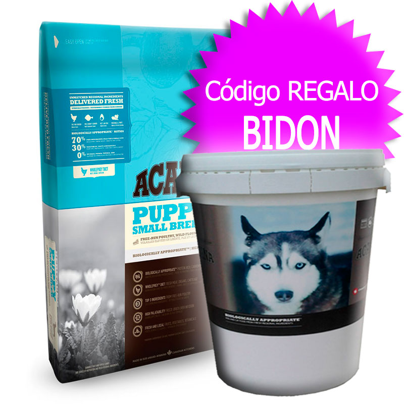 Pienso Acana Puppy Small Breed Heritage 6Kg+Bidón