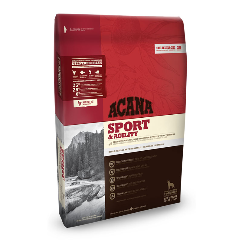 Acana Sport & Agility, Feed for dogs, Fresh Ingredients