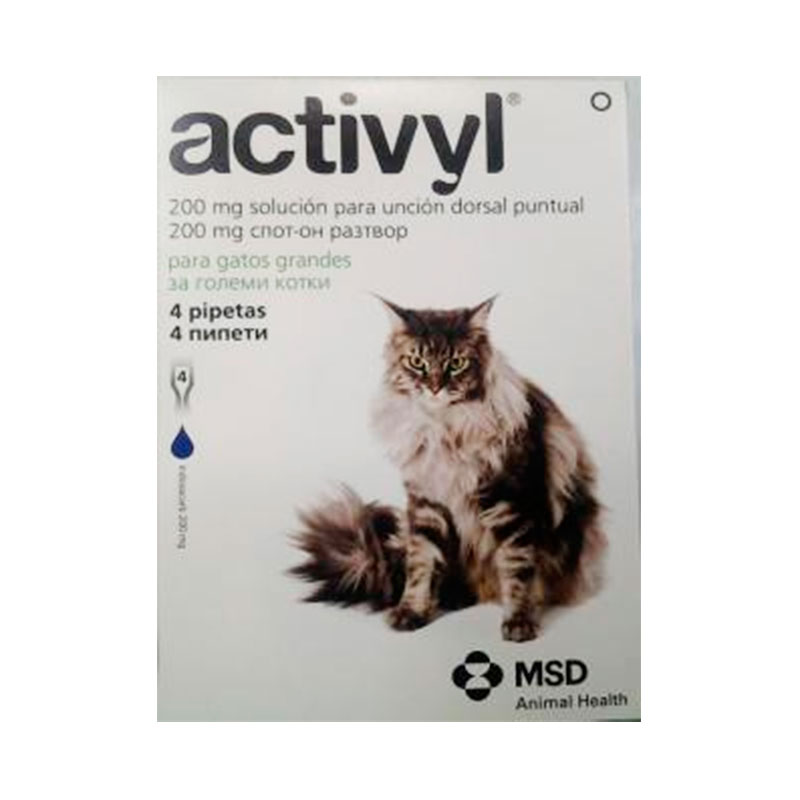 Activyl Pipettes for Cat Large >4kg