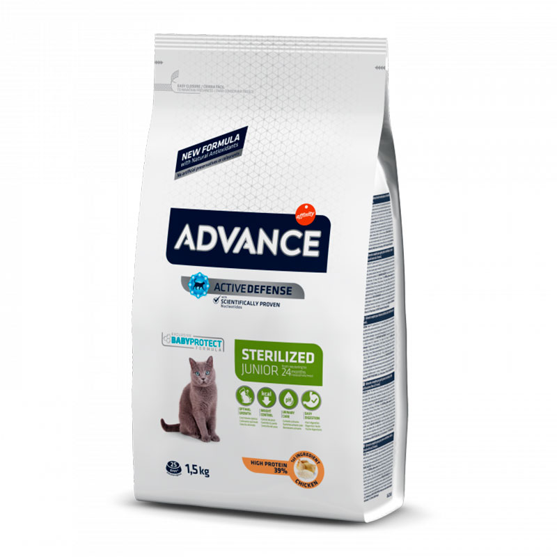 Advance Gato Young Sterilised con Pollo y Arroz