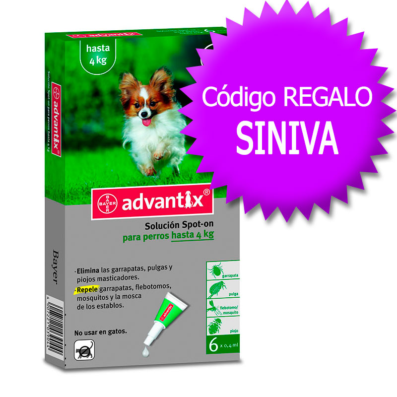 Advantix External Antiparasitic <4Kg+Coupon