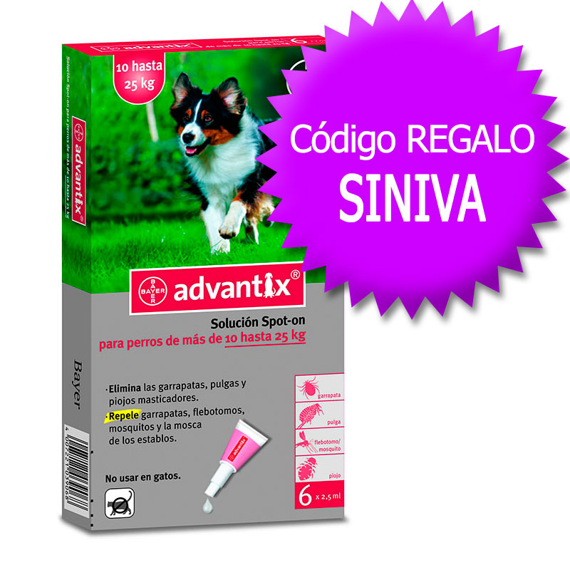 Advantix External Antiparasitic 10-25Kg+Coupon