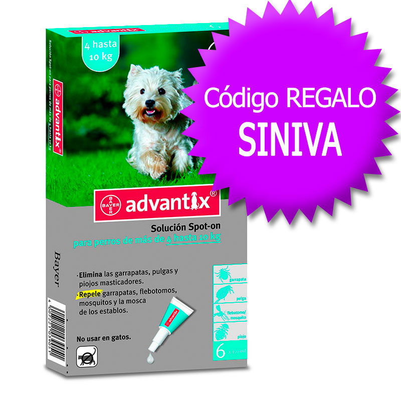 Advantix External Antiparasitic 4-10Kg+Coupon