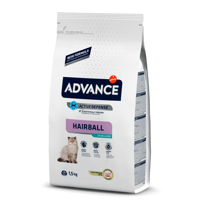 Advance Gato Sterilised Hairball Pavo y Cebada
