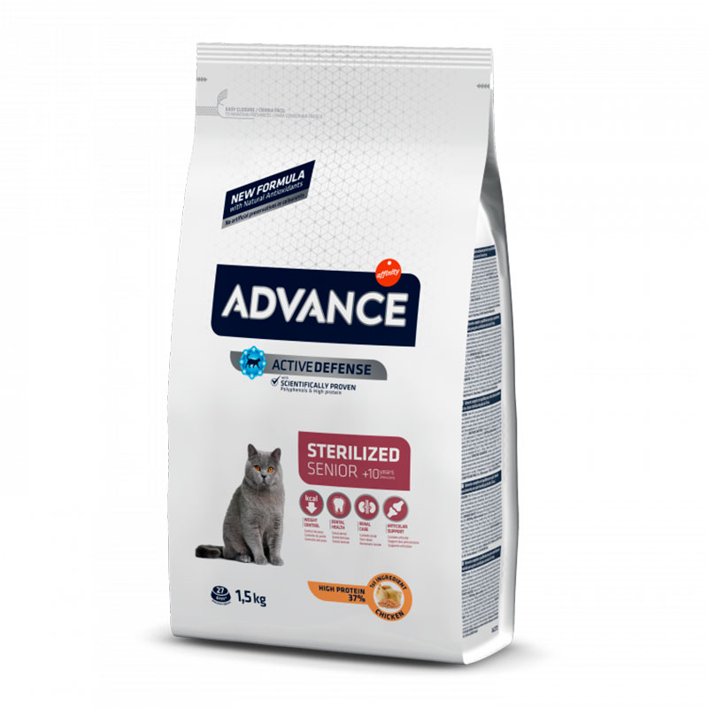 Advance Gato Sterilised +10 con Pollo y Cebada